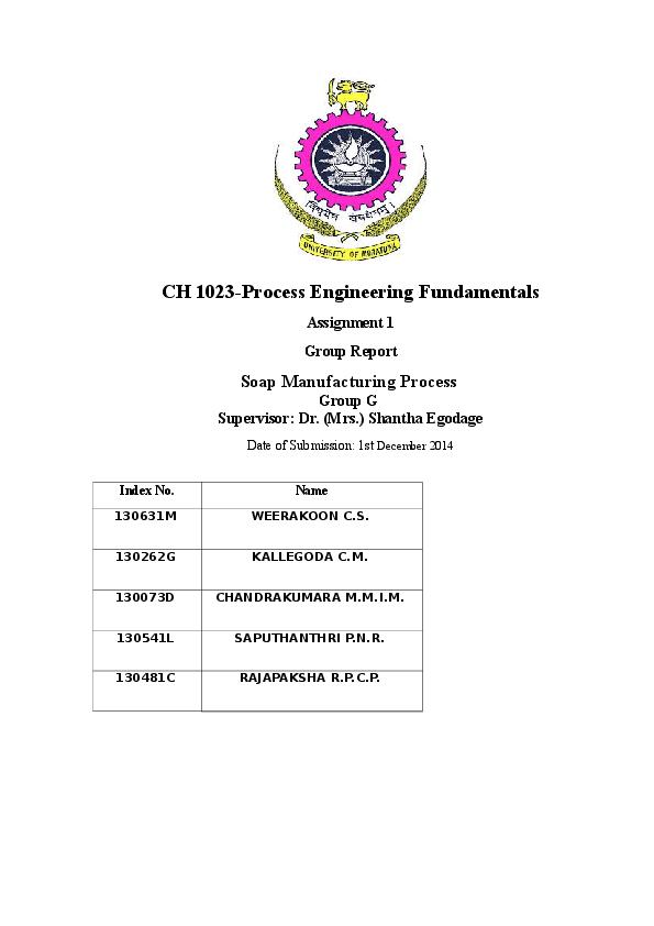 DOC) Soap manufacturing process   Chathura Kallegoda - Academia edu