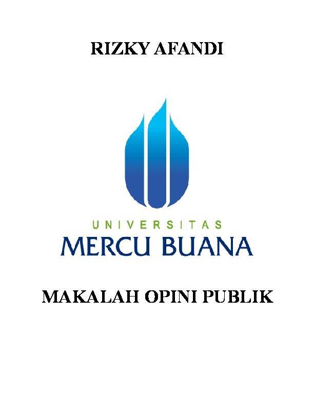 Doc Makalah Opini Publik Kelly Maharani Academia Edu