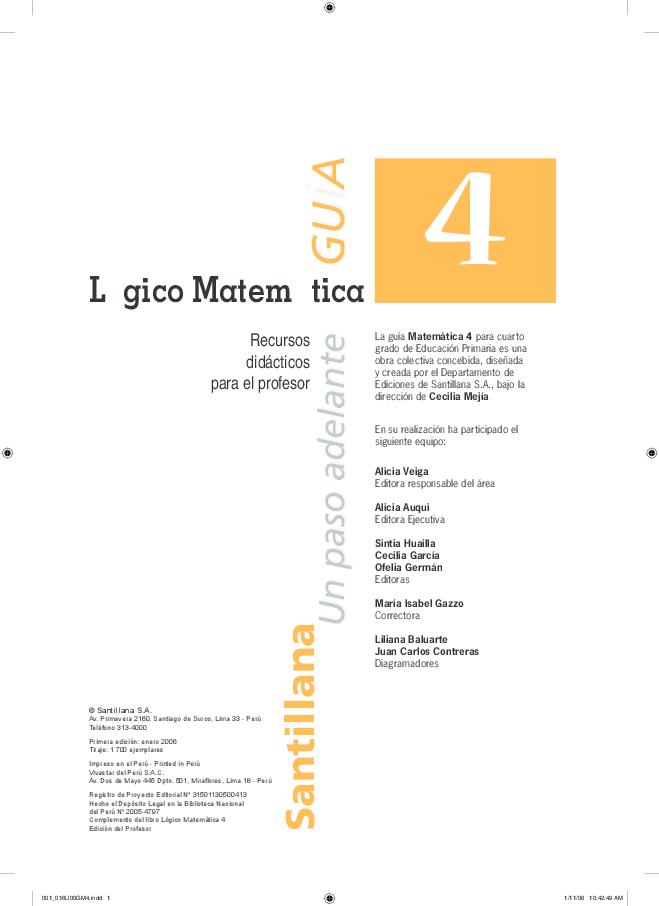 PDF) SANTILLANA 4TO GRADO | Marino Mendoza Ruiz - Academia.edu