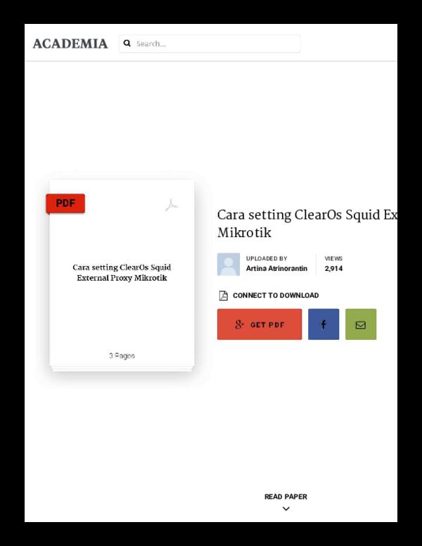 PDF) Cara setting Clear Os Squid External Proxy Mikrotik