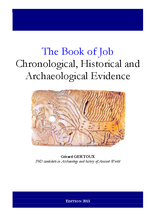 The Book Of Job Chronological Historical And Archaeological