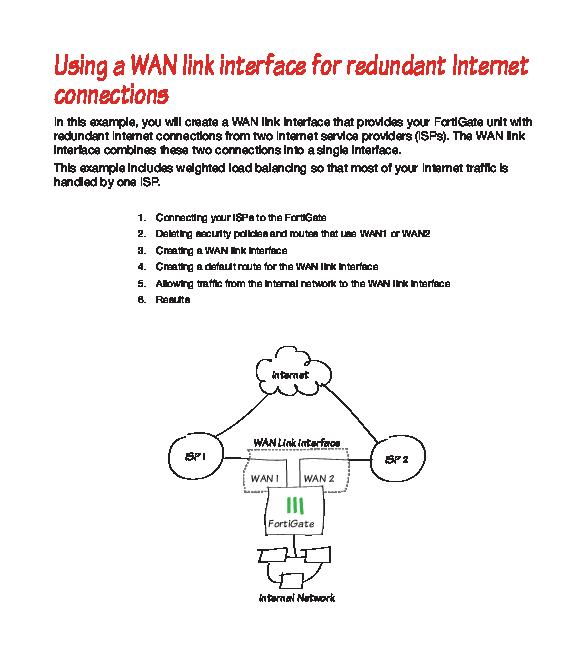 PDF) redundant Internet connections FORTINET   Anton S