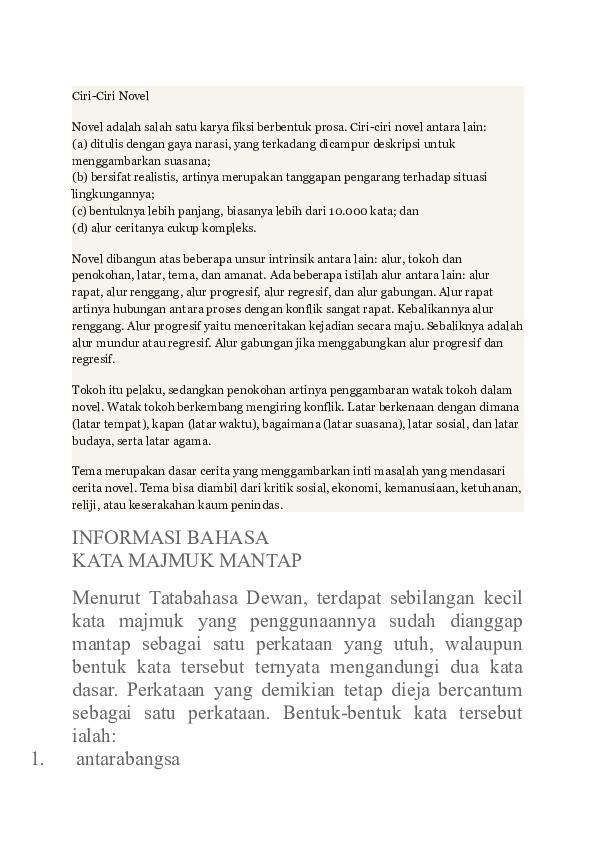 Doc Ciri Novel Aiman Shafiq Husin Academia Edu
