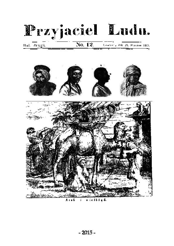 Pdf Przyjaciel Ludu 1834 1849 Jako Odzwierciedlenie