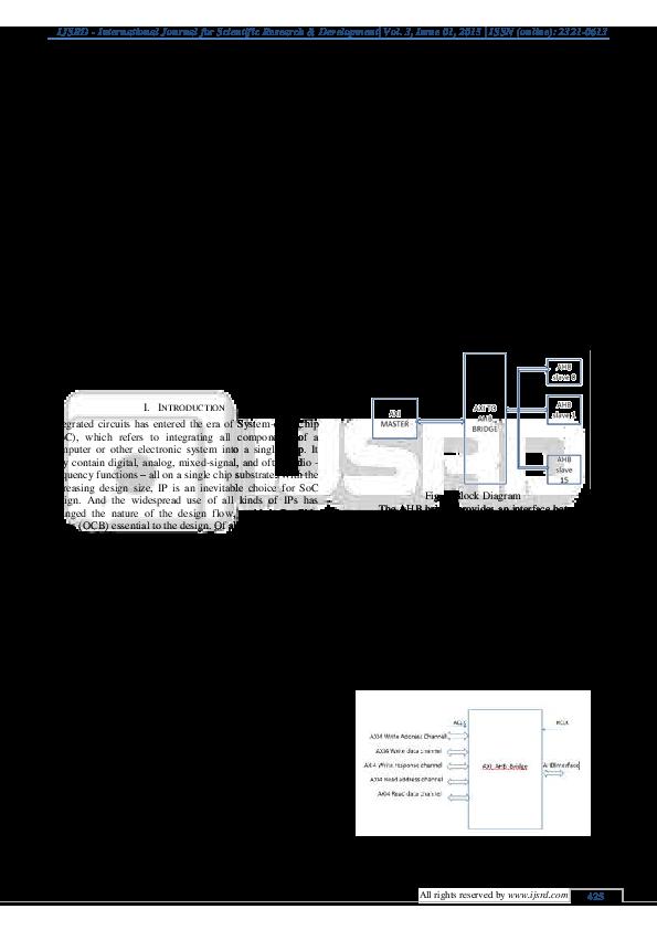PDF) Design and Implementation of AMBA AXI to AHB Bridge