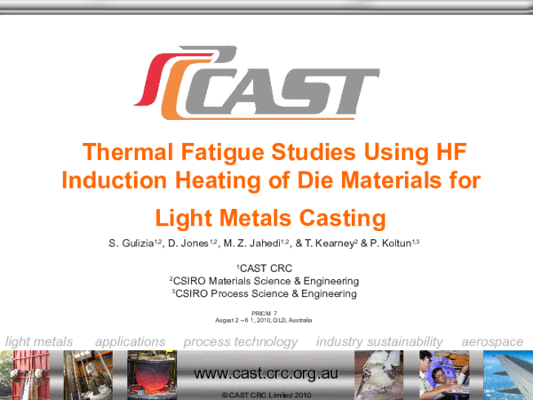 PPT) Thermal Fatigue Studies Using HF Induction Heating of