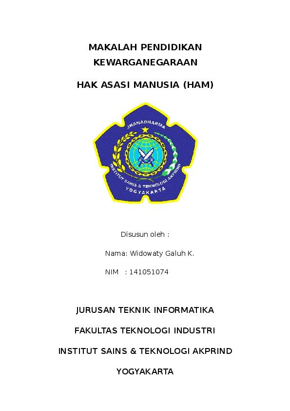 Doc Makalah Kewarganegaraan Hak Asasi Manusia Widowaty Kriswastiningrum Academia Edu
