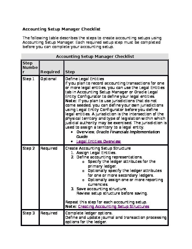 DOC) R12 Setup check list | gopalaraja duddu - Academia edu
