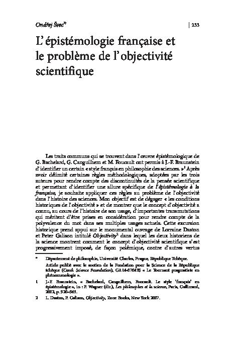 dissertation obstacles épistémologiques