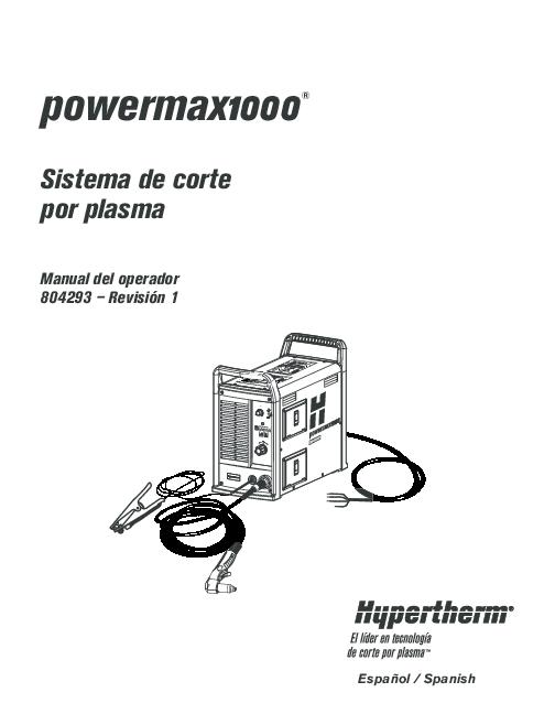 (PDF) Manual del operador equipo de corte de plasma