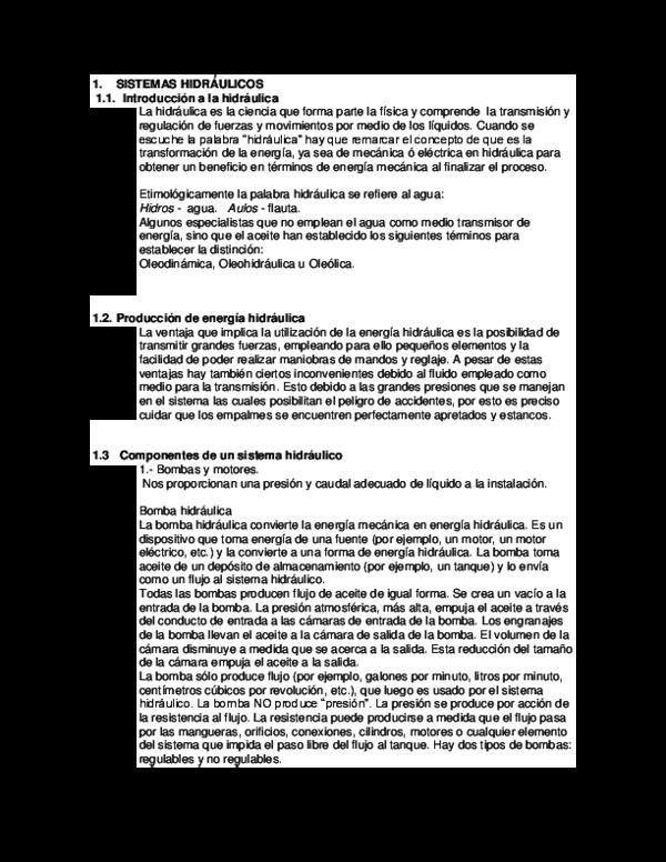 Sistema hidraulico pdf