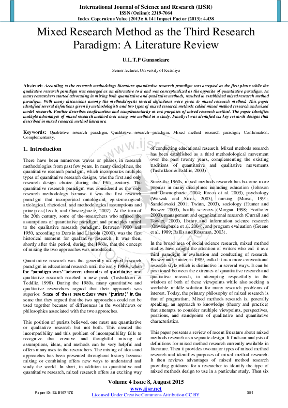 value literature review educational research