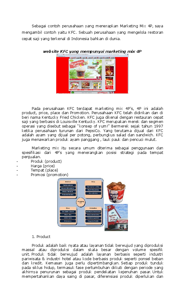 Doc Sebagai Contoh Perusahaan Yang Menerapkan Marketing Mix 4p Intan Pandini Academia Edu