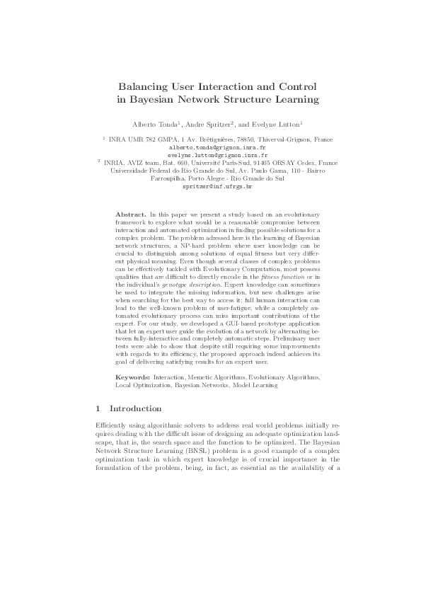 PDF) Balancing User Interaction and Control in Bayesian