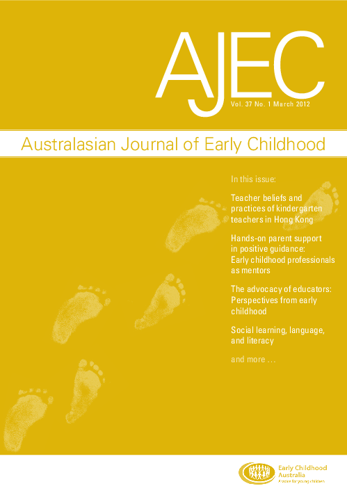 The Advocacy Of Educators Perspectives From Early Childhood