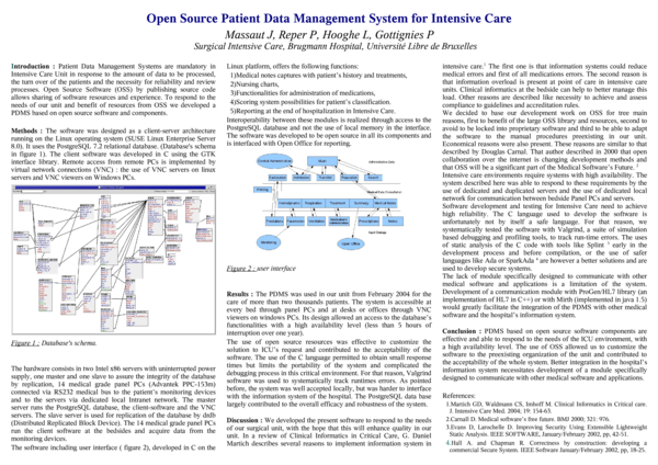 PDF) Open Source Patient Data Management System for Intensive Care
