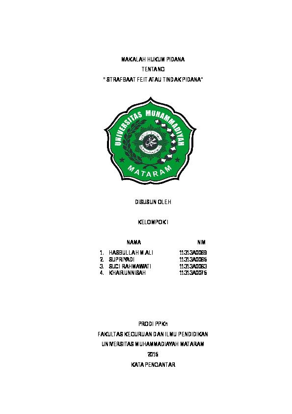 Doc Makalah Hukum Pidana Hasbullah Al Farisy Academia Edu