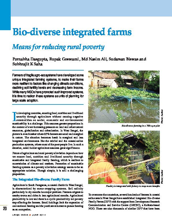 PDF) Bio diverse integrated farms | Purnabha Dasgupta and