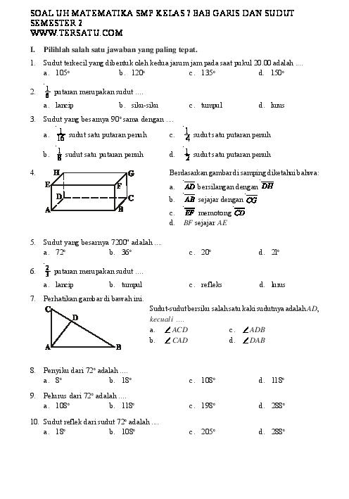 Bank Soal Matematika Smp Kelas 7 Pdf