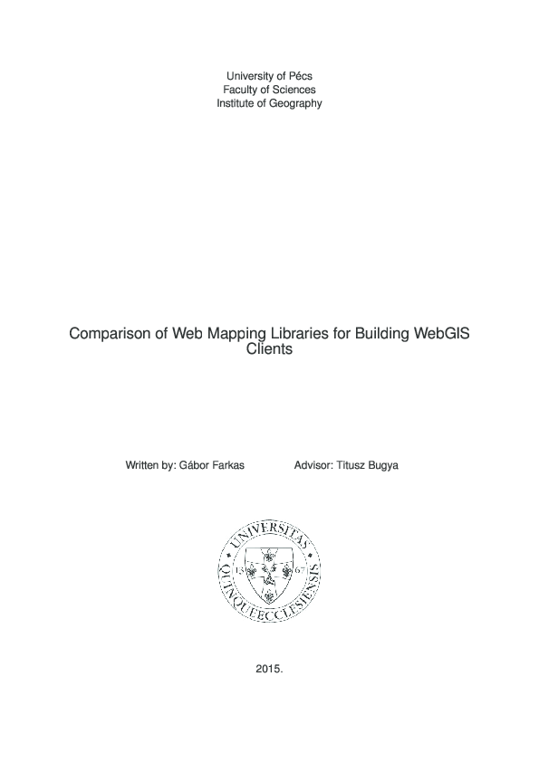 PDF) Comparison of Web Mapping Libraries for Building WebGIS