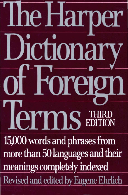 PDF) The Harper Dictionary of Foreign Terms, 3e (1987 | Nguyen Van