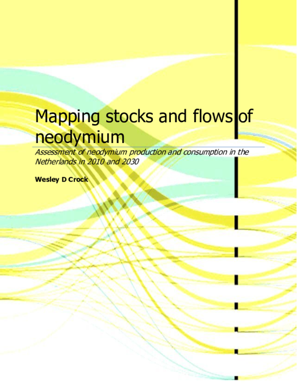 PDF) Mapping stocks and flows of neodymium: An assessment of
