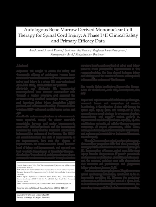 PDF) Stem Cell Neurological Application | A Anand Kumar