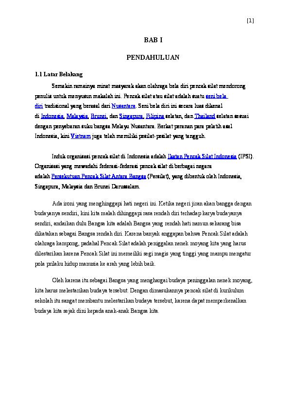 Pencak Silat Denies Susanto Academia Edu