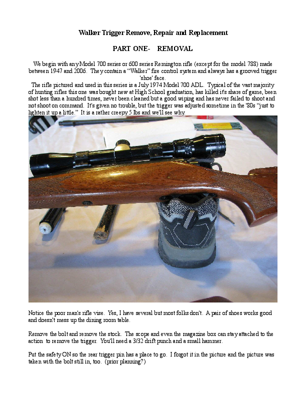 PDF) Walker Trigger Remove, Repair and Replacement PART ONE