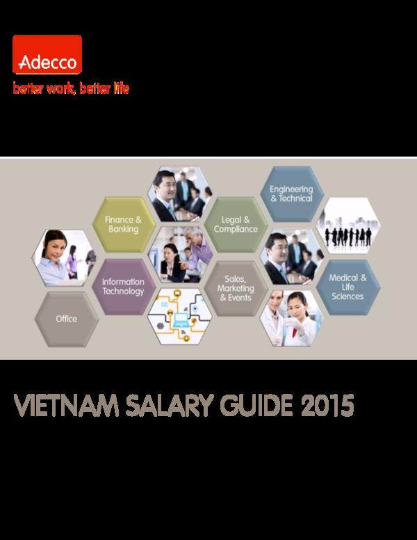 PDF) Adecco Vietnam Salary Guide 2015 | Khanh Nguyen Tuan - Academia edu