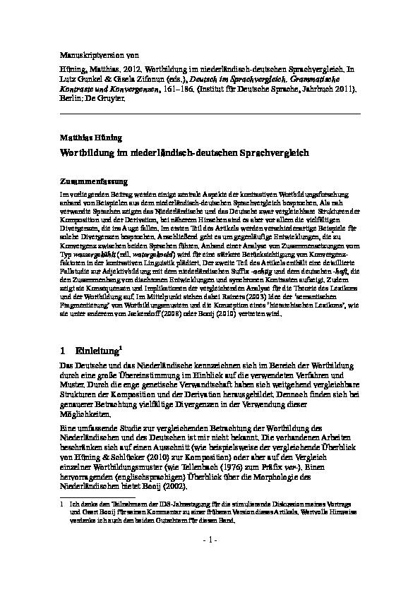 Wortbildung und Wortbildungswandel (German Edition)