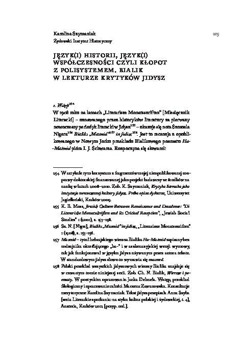 Pdf Języki Historii Języki Współczesności Czyli