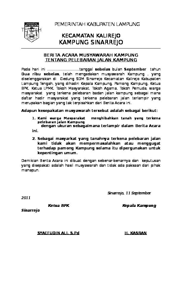 Doc Surat Kampung Wanto Sahabat Academiaedu