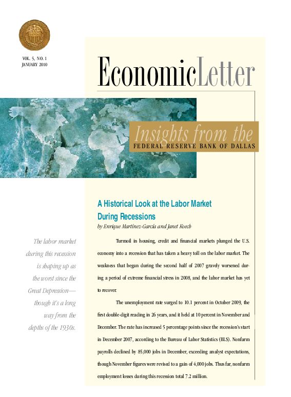 PDF) A historical look at the labor market during recessions