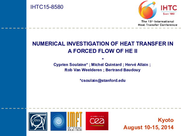 Numerical Investigation of Heat Transfer in a Forced Flow of