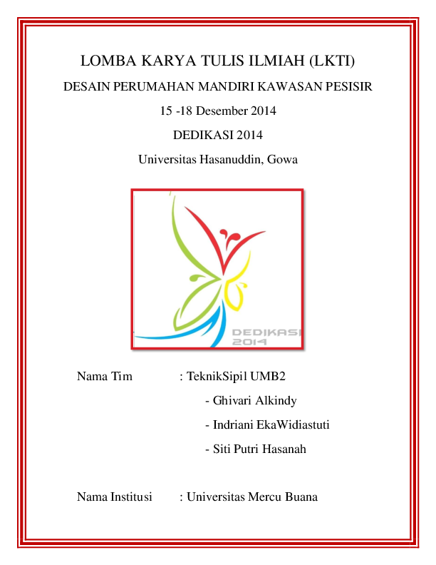 Pdf Lomba Karya Tulis Ilmiah Lkti Putri Hasanah Academia Edu
