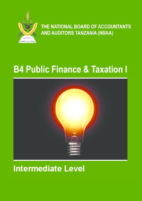 PDF) PUBLIC FINANCE AND TAXATION - 1 NBAA CPA REVIEW      Chacha