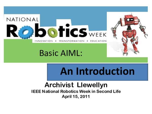 PDF) Basic AIML: An Introduction   Shannon Bohle - Academia edu