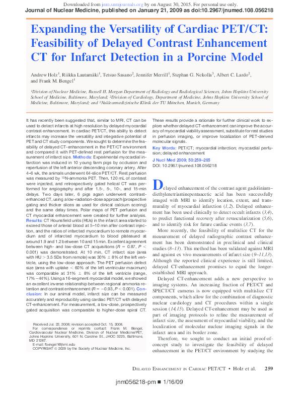 PDF) Expanding the Versatility of Cardiac PET/CT
