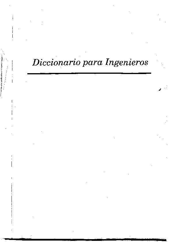 PDF) Diccionario para Ingenieros | Luisa Gomez - Academia edu
