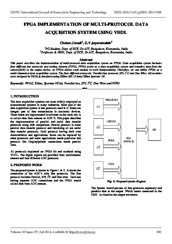 PDF) FPGA IMPLEMENTATION OF MULTI-PROTOCOL DATA ACQUISITION SYSTEM