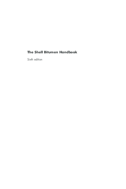 PDF) The Shell Bitumen Handbook Sixth edition | Erlet Shaqe