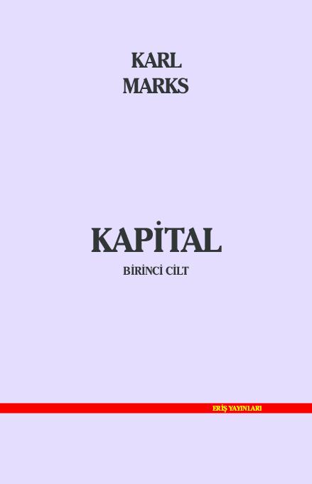 Pdf Karl Marks Kapital 1 Ci Cild Turkcə Famil Mirzayev