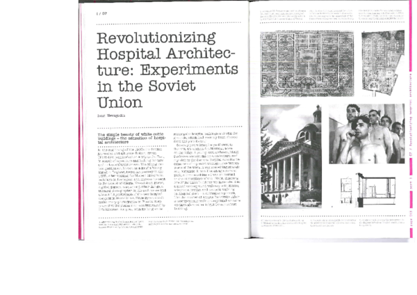 PDF) Revolutionizing Hospital Architecture: Experiments in the