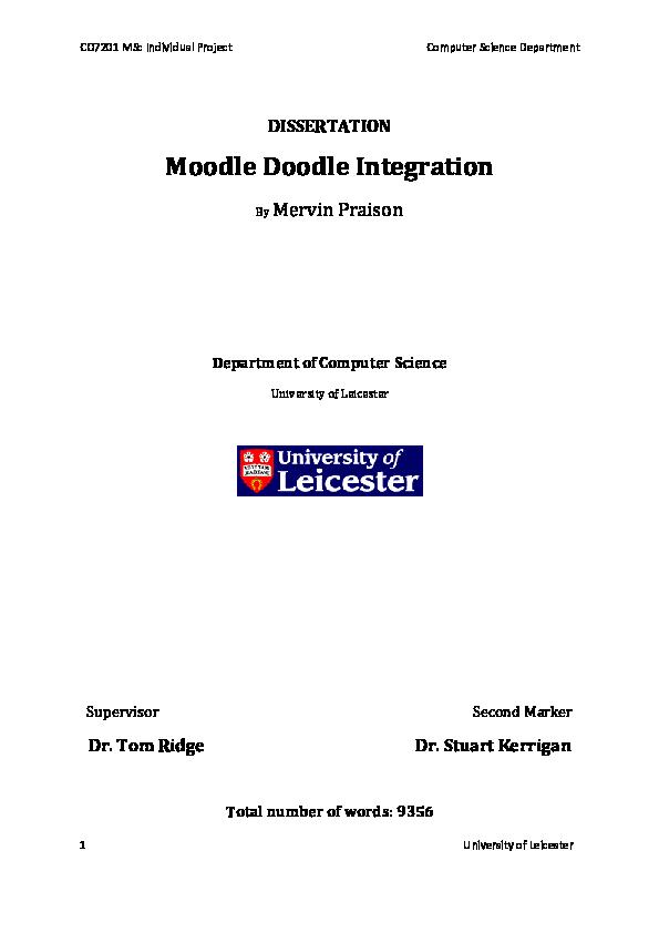 PDF) Moodle Doodle Integration | Mervin Praison - Academia edu