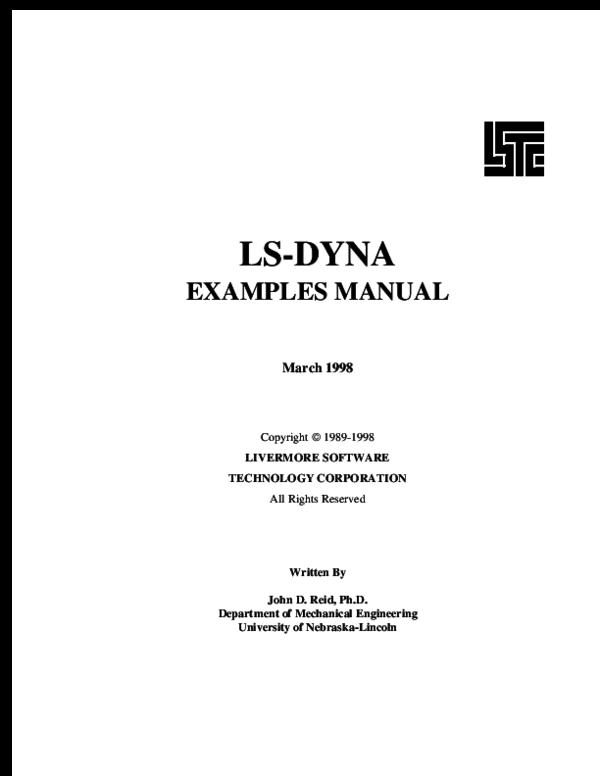 PDF) LS-DYNA EXAMPLES MANUAL Written By   Alex Daniel