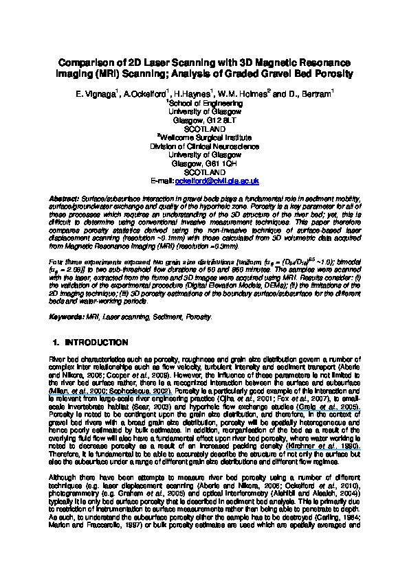 PDF) Comparison of 2D Laser Scanning with 3D MRI Scanning