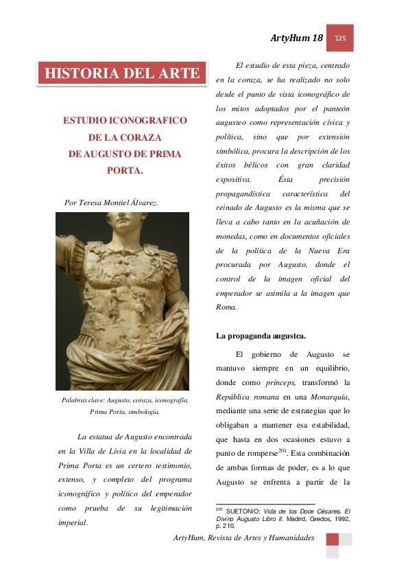Pdf Estudio Iconográfico De La Coraza De Augusto De Prima