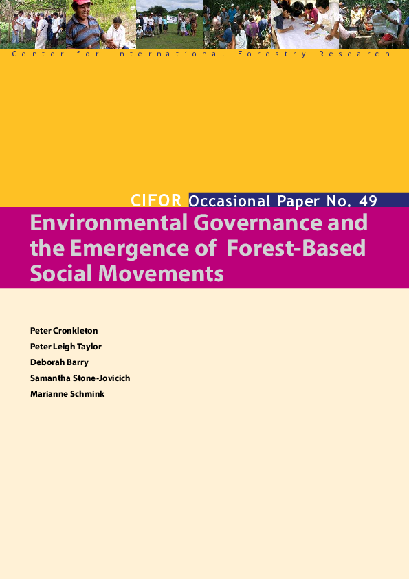 PDF) Environmental governance and the emergence of forest-based