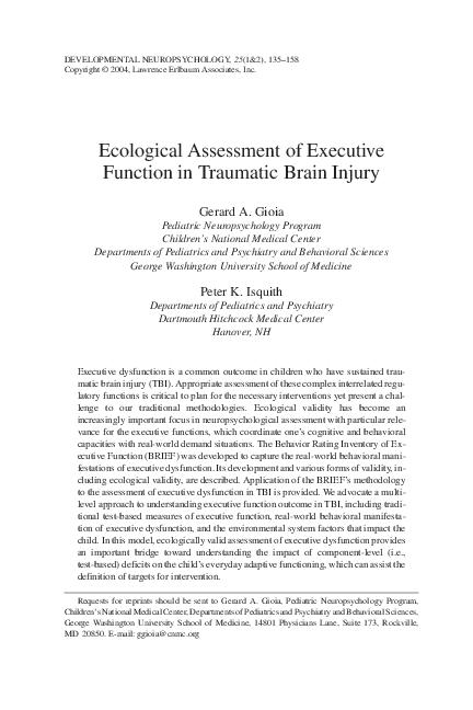 Executive functioning assessment pdf | Peatix